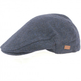 Casquette Wicklow  plate Herrinbone Tweed Marine  - Traclet