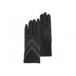Black woollen gloves -Isotoner