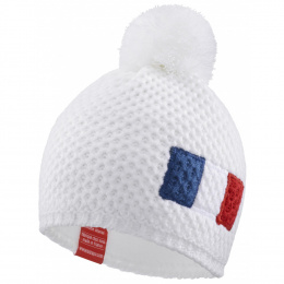 copy of White Pompon Beanie King Blue Lagoon - LeDrapo