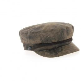 Antique leather captain's cap-Apparel