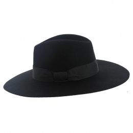 Chapeau bord Large marine Fedora -The Author - Traclet