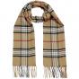 Beige plaid scarf