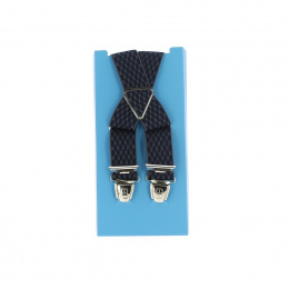 bretelle fantaisie bleu marine