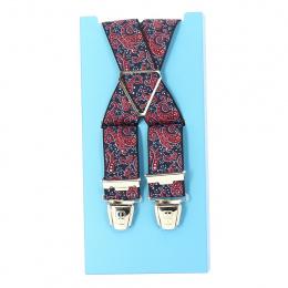 Bretelle fantaisie style bandana - bleu marine