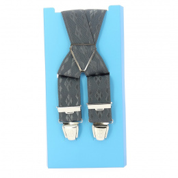 Bretelle fantaisie - gris carreaux