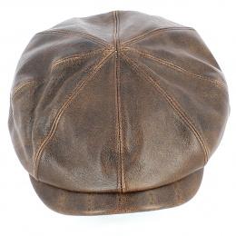 Casquette hatteras Houston cuir Vieilli - Crambes