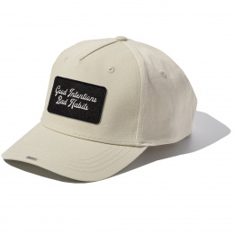 Beige Full Cotton Cap with GOOD INTENTIONS badge