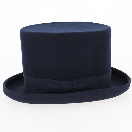 Chapeau Haut De Forme Feutre Laine Bleu- Guerra