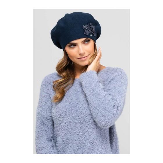 Women's Palata Navy Wool Beret - Traclet
