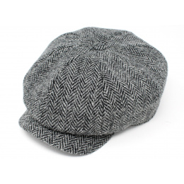 Irish Dundalk Grey Wool Cap - Hanna Hats
