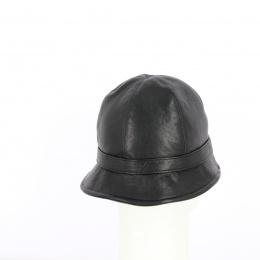 Chapeau Cloche Napoli Cuir Noir- Traclet