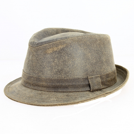 Trilby Roo vintage leather hat - Traclet