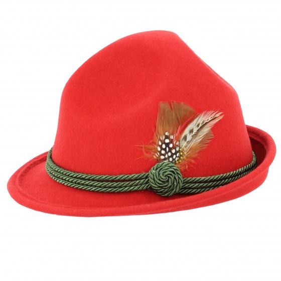 Chapeau tyrolien rouge