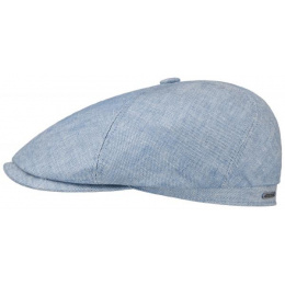 copy of Brooklin Queens Light Blue Linen Cap - Stetson