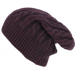 Bonnet Long Florence Prune - Traclet