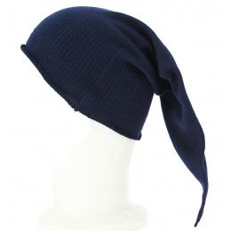 Bonnet de Nuit Long Chacarel Coton Marine - Traclet