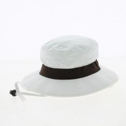 chapeau Binic anti UV ruban marron- Soway