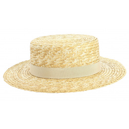 Apeldoorn Natural Straw Boater - TRACLET