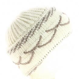 Bonnet mamie Angora Blanc