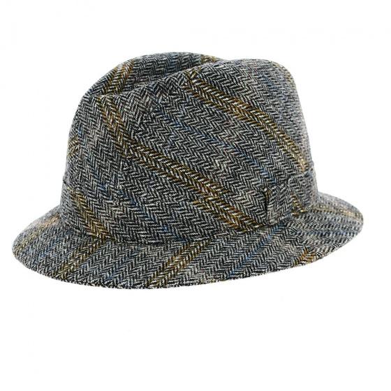 Grey/Brown Tweed Hat - Traclet