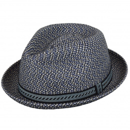Chapeau Mannes Trilby / PorkPie Hat Navy - Bailey