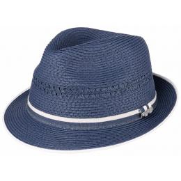 Chapeau effet paille bleu - Stetson