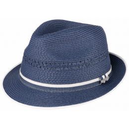 Trilby Magellan blue straw hat - Stetson