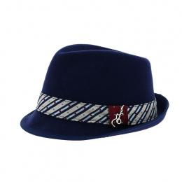 Trilby Ringo Hat Navy Blue