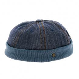 Bonnet docker - Casquette sans visière bleu jean