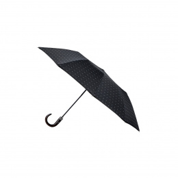 Parapluie pliant medium poignée bois courbe - Piganiol
