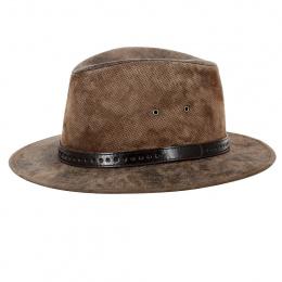 Traveller Kenya Leather Hat - Aussie Apparel