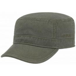 Gosper Cotton Khaki Military Cap - Stetson