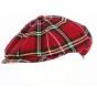 Irish cap with red squares