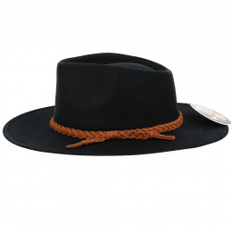 Chapeau Traveller Whitfield Noir - Aussie Apparel