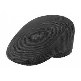 Casquette plate velours grise