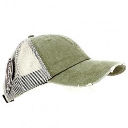 Khaki Scratched Baseball Cap - Aussie Apparel