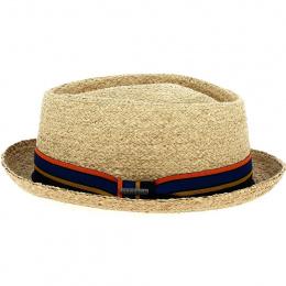 Porkpie Silver Natural Straw Hat - Stetson