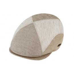 Beige Cotton & Linen Traclet cap