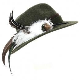 Traveller Prestigious Hat Olive Wool - Traclet