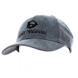 Grey Suede Baseball Cap - Jack Magnan