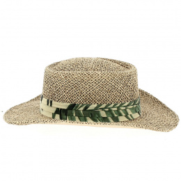 Gambler Mulligan Leaf Natural Straw Hat - Traclet