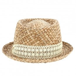 Porkpie Moha Natural Straw Hat - Traclet