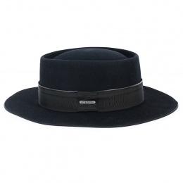 Chapeau Gambler Ankara Feutre Poil Noir - Stetson