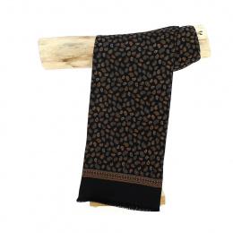 Black Leonard Silk Scarf - Traclet
