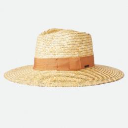 Traveller Hat Wide Brim Joanna Natural Straw Orange - Brixton