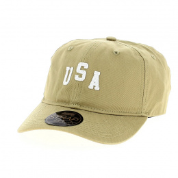 USA Classic Beige Baseball Cap - Official
