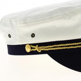 White sailor's cap