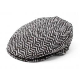 Casquette plate gris chiné - Hanna Hats