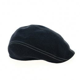 Navy linen bomb cap