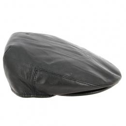 Mario Flat Leather Cap - Fléchet